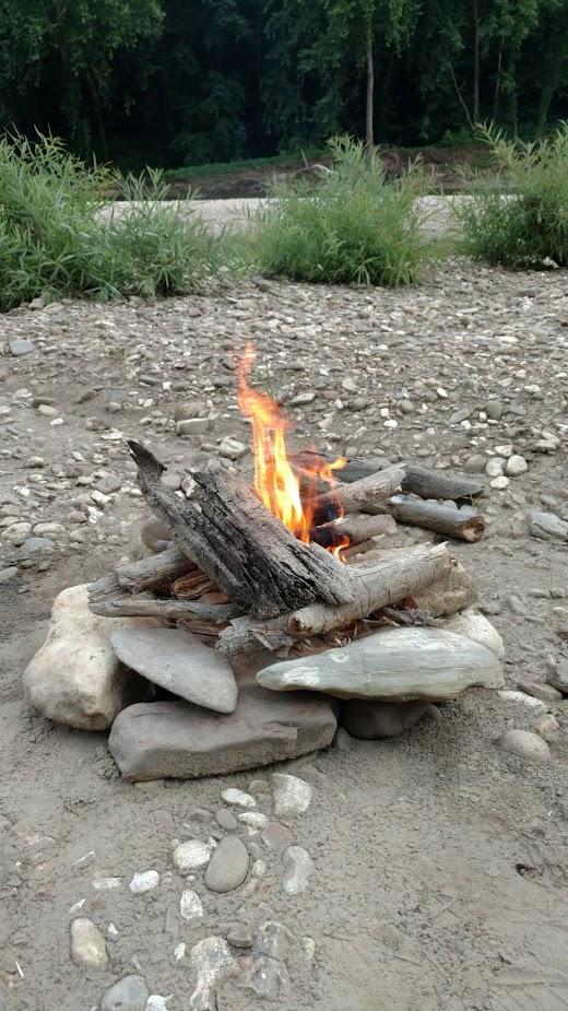 Camp Fire Buffalo River Arkansas