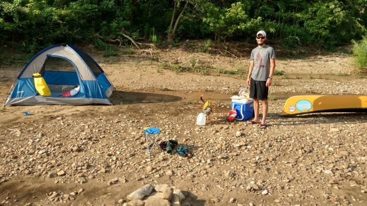 Campsite Canoe Buffalo River Arkansas