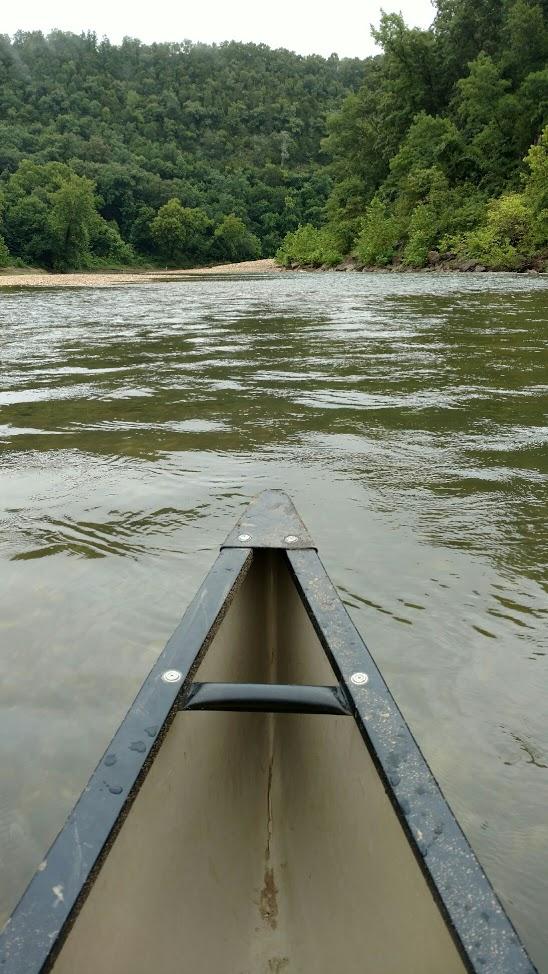 Canoeing Buffalo River Viewing Hills