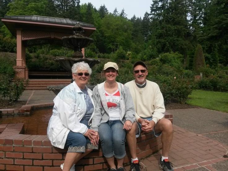 Grandparents International Rose Garden Portland Oregon