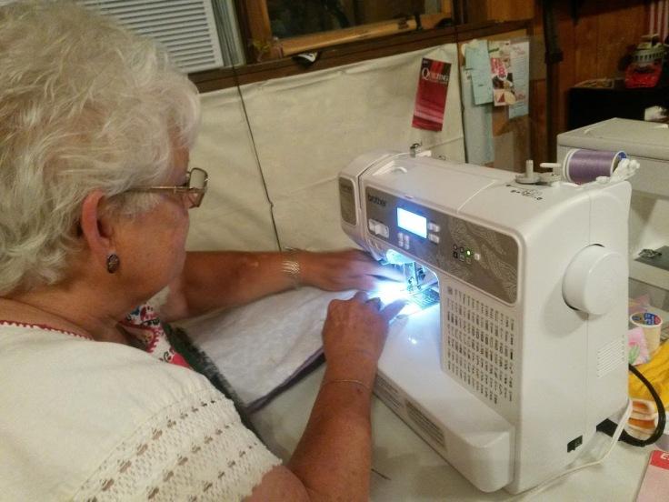 Grandma Pat Sewing