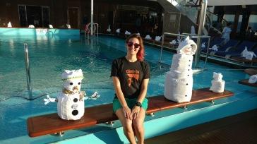 Morinventures snowmen on carnival cruise