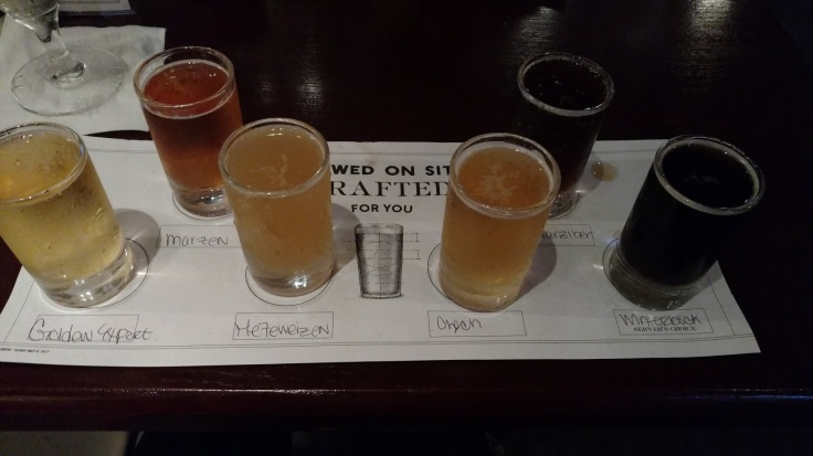 Gordon Biersch flight taster beer 1