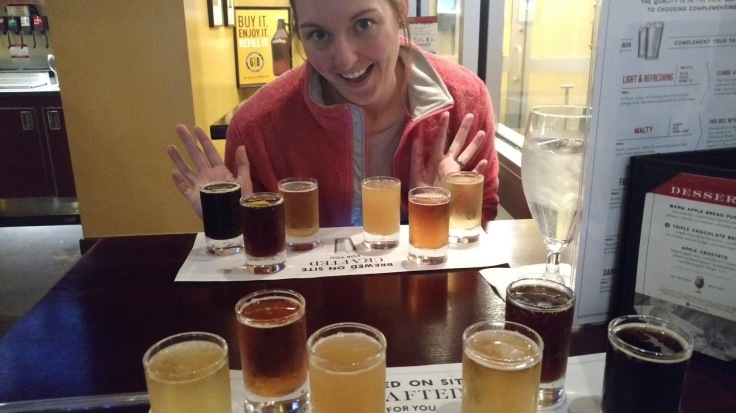 Gordon Biersch flight taster beer