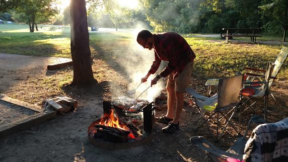 Tin Foil Dinners Camping Buffalo National River Tyler Bend Campsite