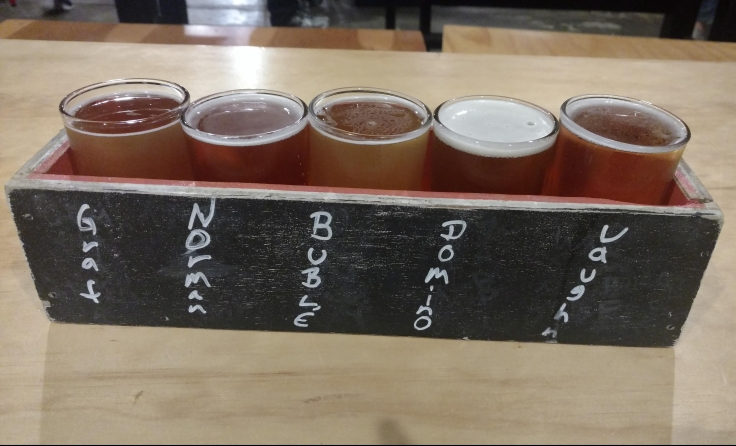 St Elmo Brewing Company Beer Flight Austin TX
