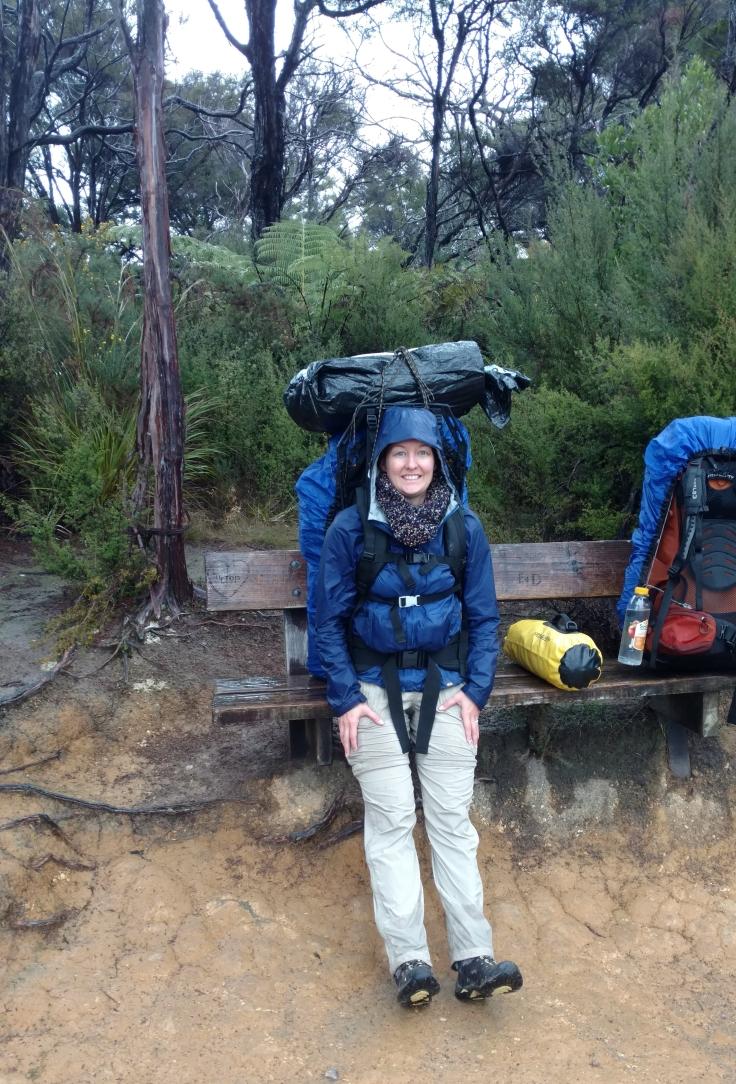 Abel Tasman Coastal Track resting on bench